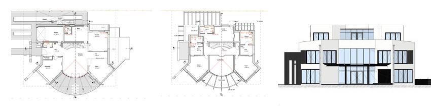 Architekt Troisdorf Peter Kröker Bauplanung Zeichnungen