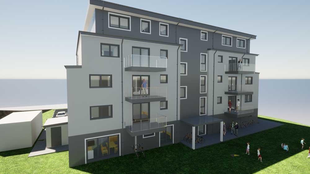 Architekt Troisdorf Peter Kröker Mehrfamilienhaus