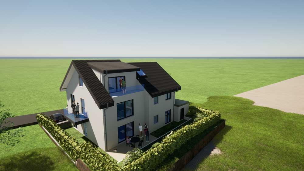 Architekt Troisdorf Peter Kröker Zweifamilienhaus
